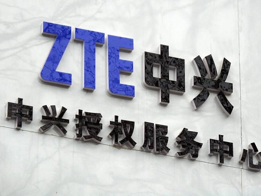 Das Logo des Telekom-Ausrüsters ZTE