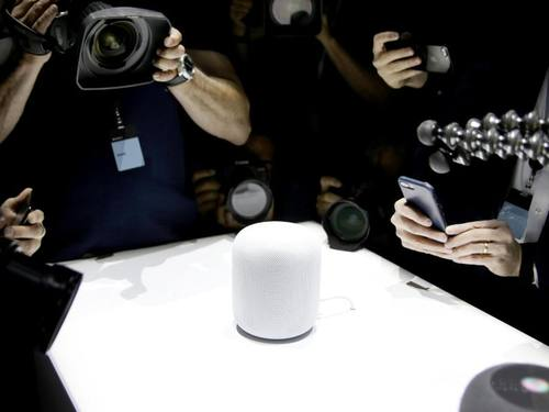 Apples HomePod soll 349 Dollar kosten. Foto: Christoph Dernbach